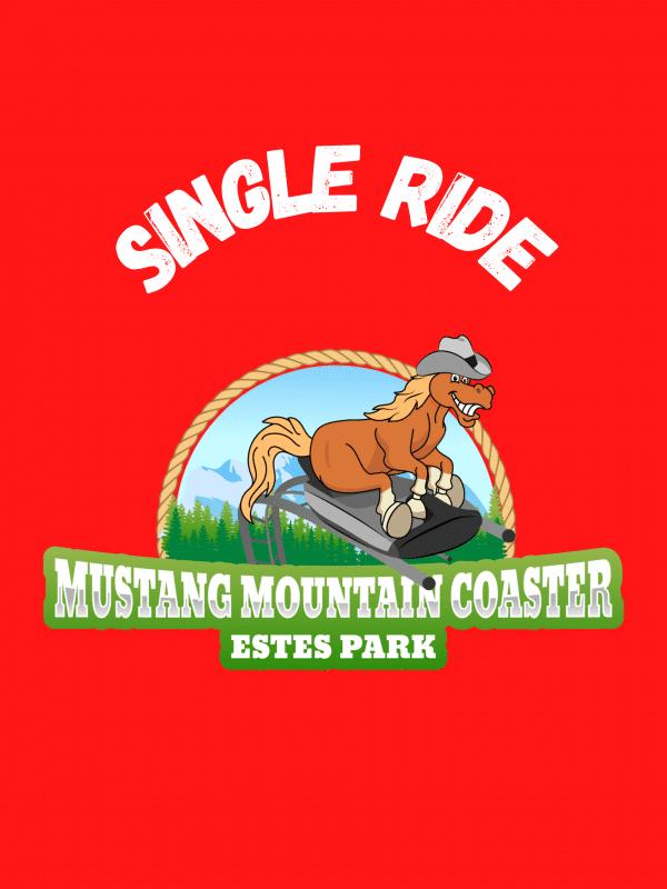 1-ride pass Mustang Mountain Coaster